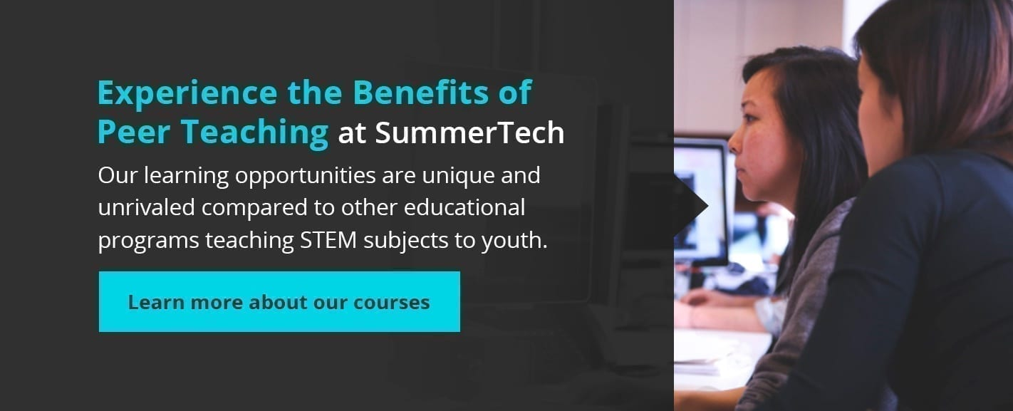 experience the benefits of peer teaching at SummerTech